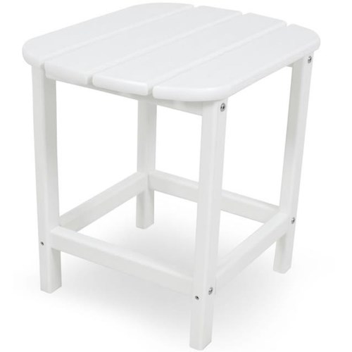 Polywood South Beach 18 Inch Side Table with Slat Design
