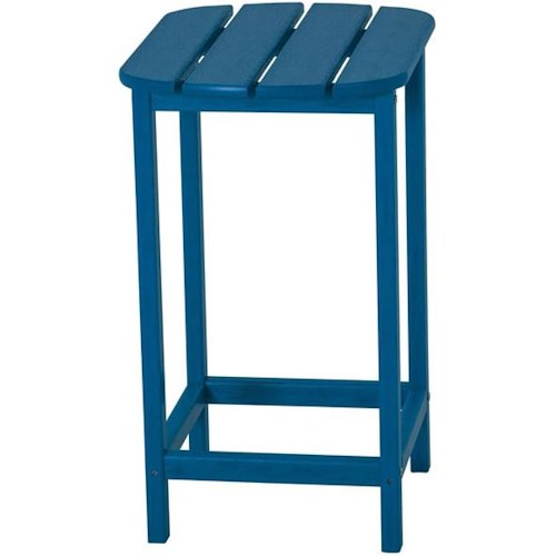 Polywood South Beach 26 Inch Counter Height Side Table with Block Feet