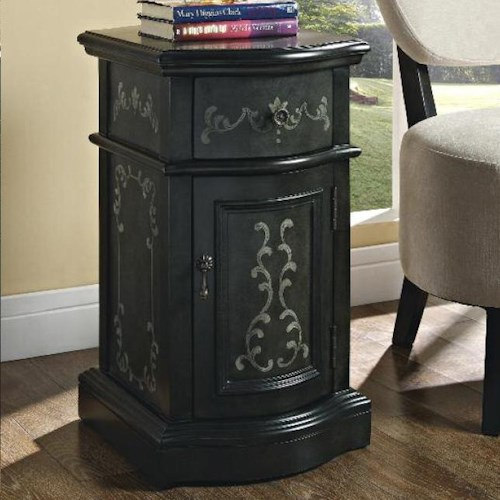 Powell Accent Cabinets Painted Chairside Storage w/ Drawer