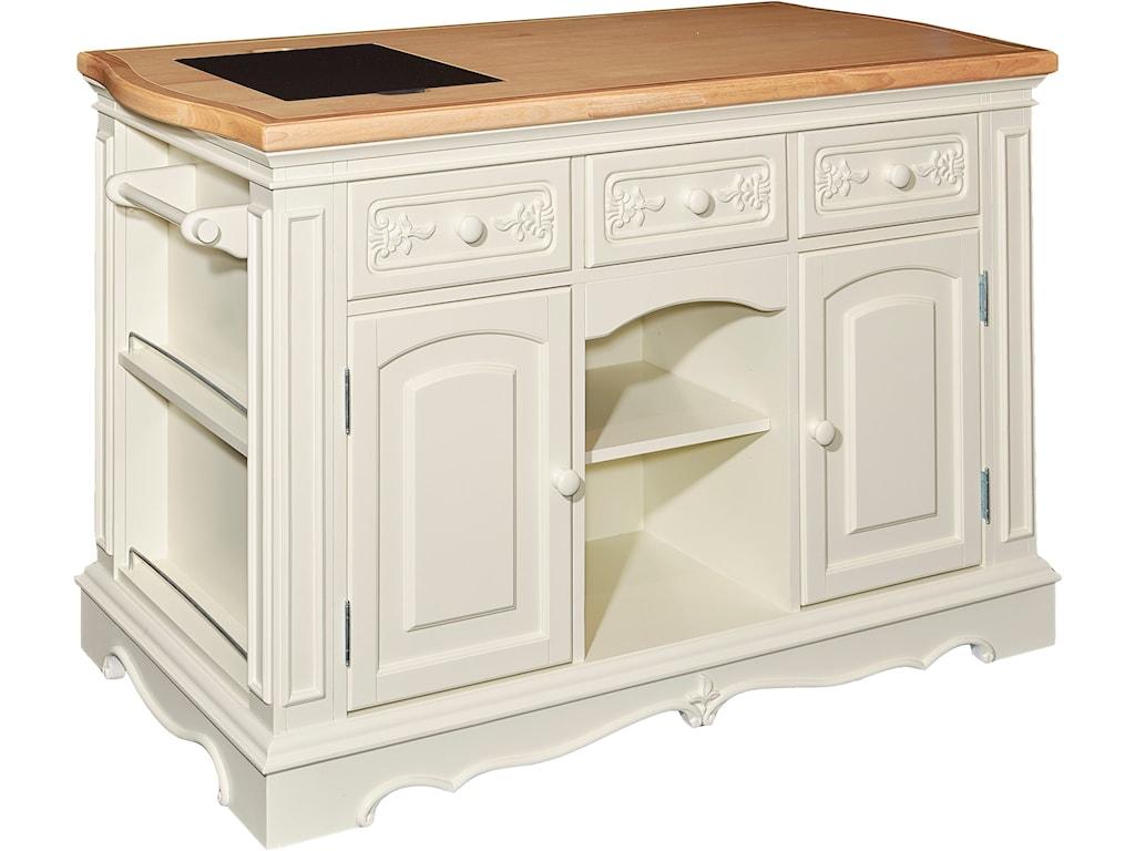 Kitchen Accent Furniture Powell Accent Furniture Pennfield White Kitchen Island Olindes