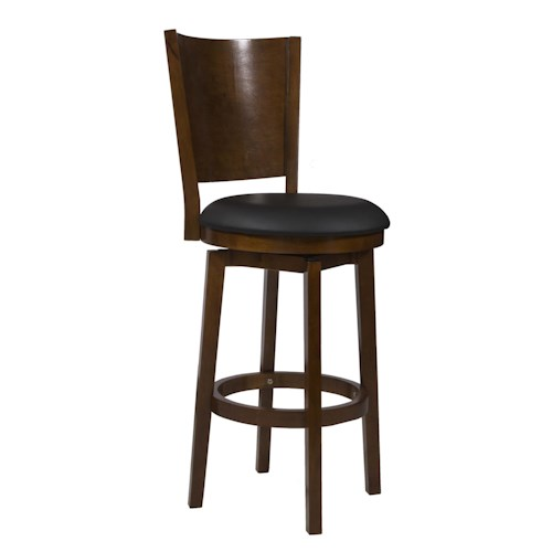 Powell Big and Tall Solid Back Wood Barstool
