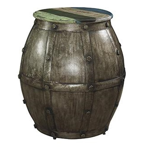 Powell Calypso Wheatherd Barrel Table