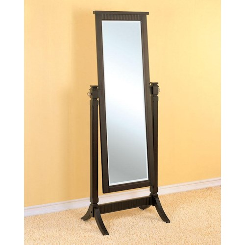 Powell Contemporary Merlot Cheval Mirror