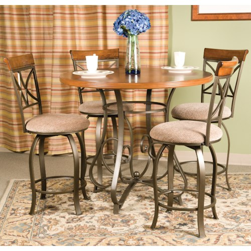 Powell Hamilton 5 Piece Gathering Table Set
