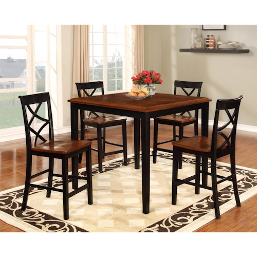 Powell Harrison 5 Piece Counter Height Dining Set