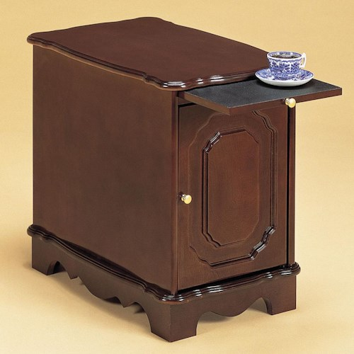 Powell Heirloom Cherry Magazine Cabinet End Table