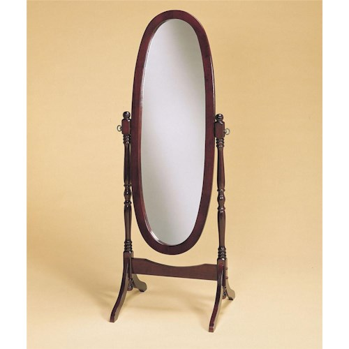 Powell Heirloom Cherry Full-Length Cheval Mirror