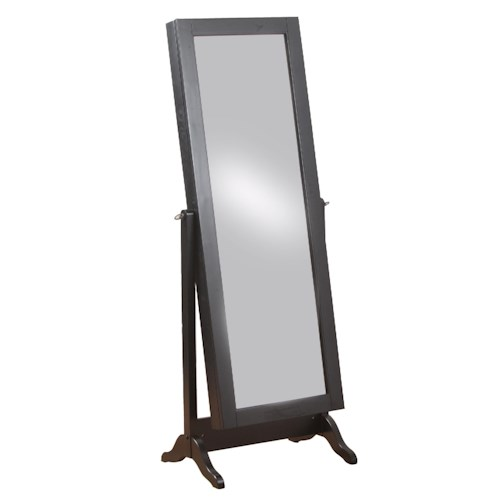 Powell Jewelry Armoire Sliding Mirror Jewelry Armoire