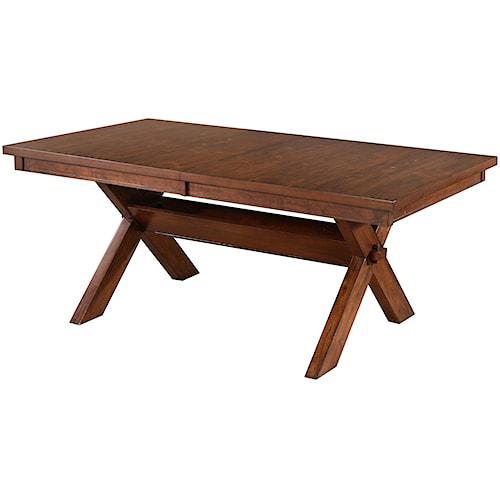 Powell Kraven Dark Hazelnut Dining Table