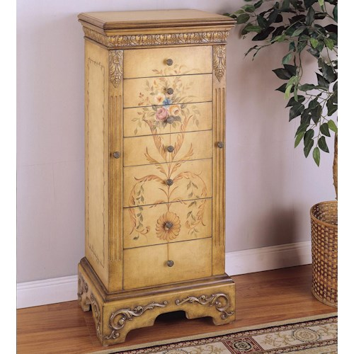 Powell Masterpiece Hand Painted Jewelry Armoire