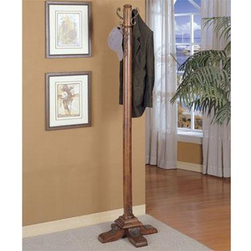 Powell Accents Woodbury Mahogany Coat Rack