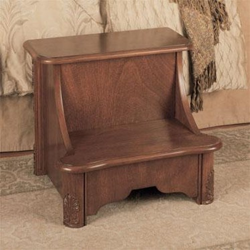 Powell Accents Woodbury Mahogany Bed Step with Storage