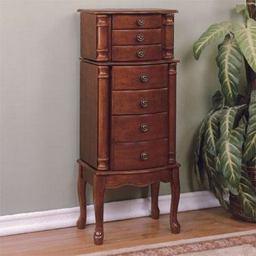 Powell Accents Classic Cherry Jewelry Armoire