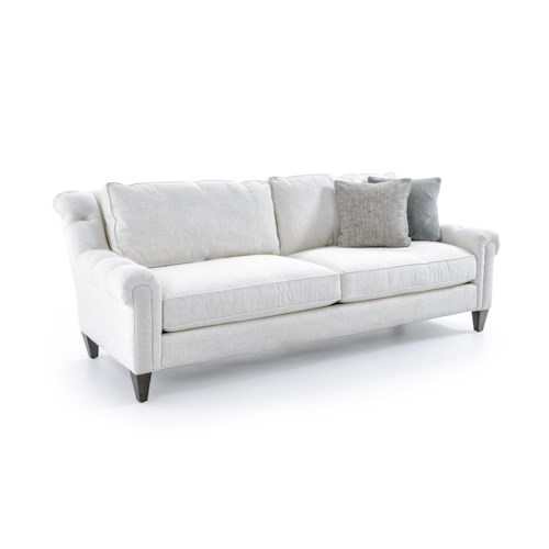 Precedent 3236 Violet Sofa with Rolled and Tufted Arms