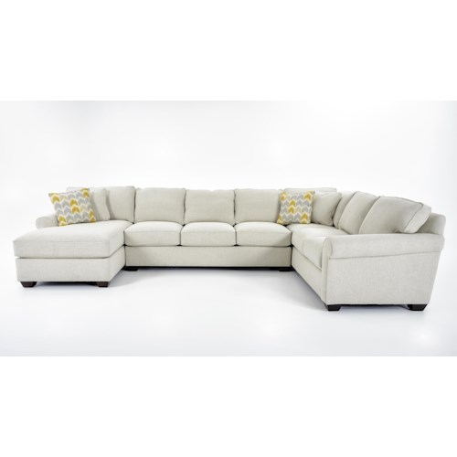 Precedent Multiple Choices Three Piece Customizable Sectional Sofa with Chaise