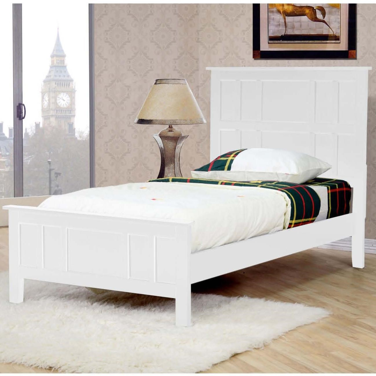 millie white twin panel bed walker 39 s furniture