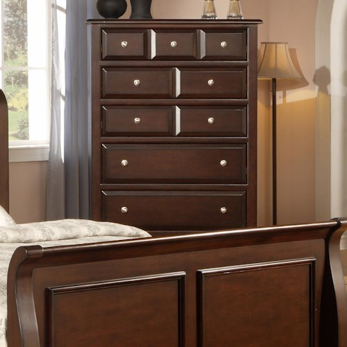 Private Reserve B121 Transitional Chest with Pewter Hardware