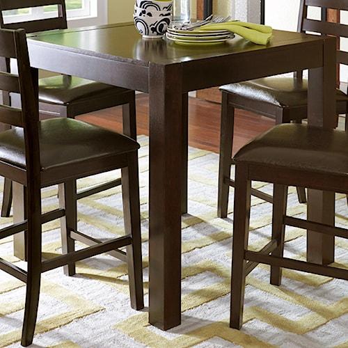 Progressive Furniture Amini Contemporary Self-Storing Butterfly Counter Table