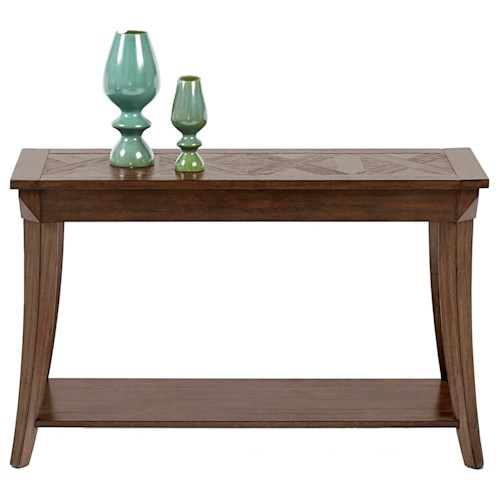 Progressive Furniture Appeal I Sofa/Console Table with Parquet Table Top