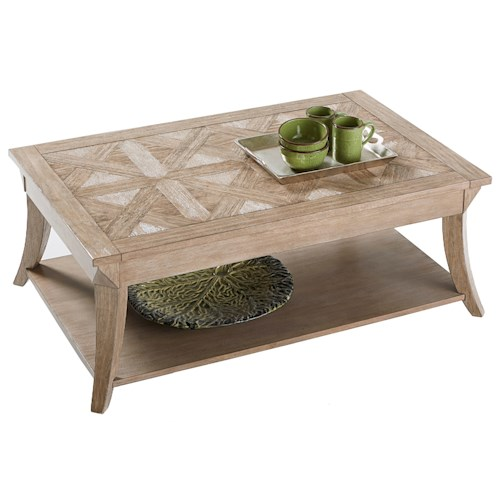 Progressive Furniture Appeal II Rectangular Cocktail Table with Parquet Table Top