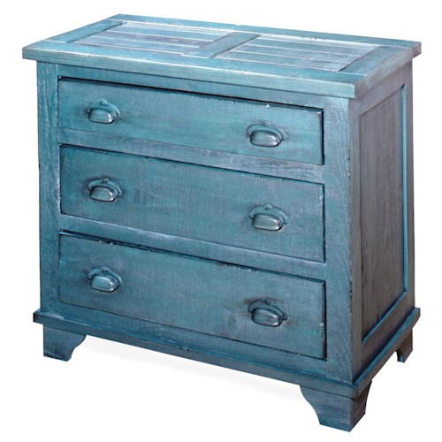Progressive Furniture Camryn Rustic/Casual Industrial Chest - Denim Blue