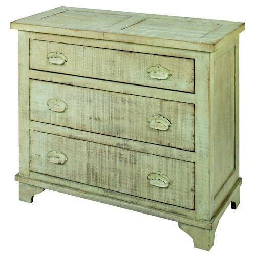 Progressive Furniture Camryn Rustic/Casual Industrial Chest - Mint Green