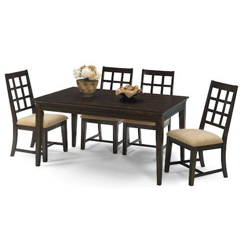 Progressive Furniture Casual Traditions Casual 5 Piece Rectangular Dining Set