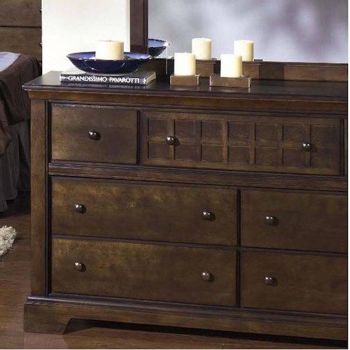 Progressive Furniture Casual Traditions Casual 7 Drawer Dresser