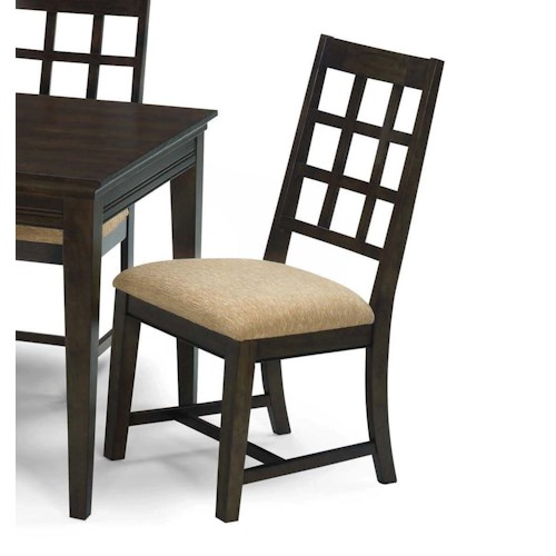 Progressive Furniture Casual Traditions Casual Lattice Splat Back Side Chair
