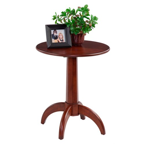Progressive Furniture Chairsides Chairside Table with Round Top & Pedestal Base