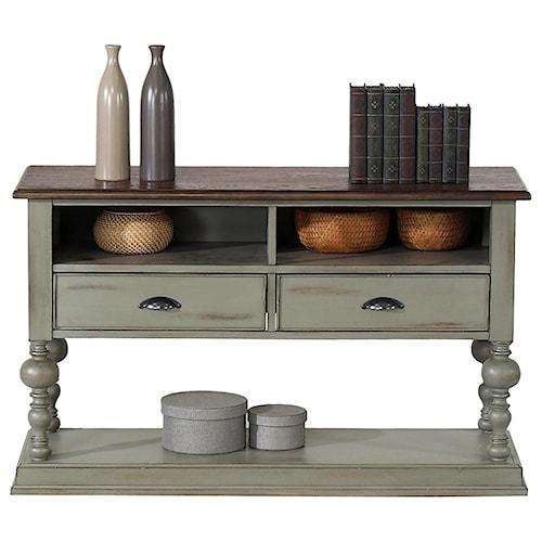 Progressive Furniture Colonnades Weathered Gray/Oak Sofa/Console Table