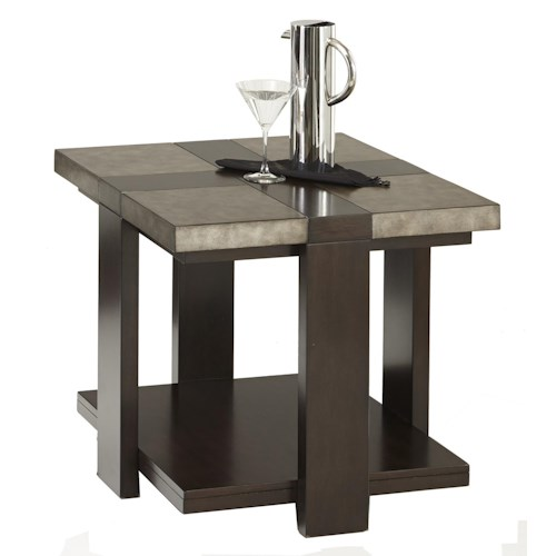 Progressive Furniture Concourse Contemporary Rectangular End Table