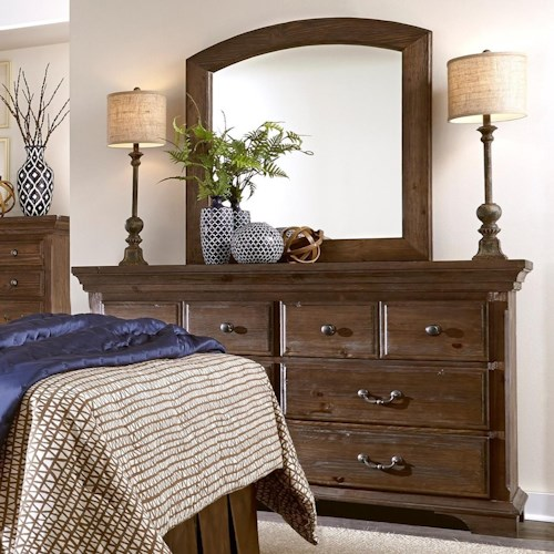 Progressive Furniture Copenhagen Solid Wood Pine Dresser & Mirror