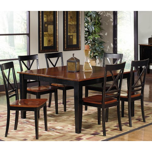 Progressive Furniture Cosmo Casual Rectangular Dining Table Set