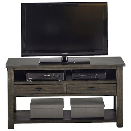 Progressive Furniture Crossroads Rustic Entertainment Console in Gray Finish