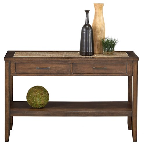 Progressive Furniture Forest Brook Sofa/Console Table with Ceramic Tile Top