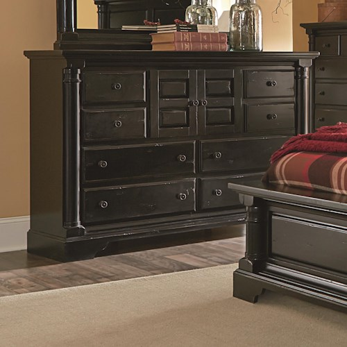 Progressive Furniture Gramercy Park Traditional Dresser with Raised Panel Drawers and Doors