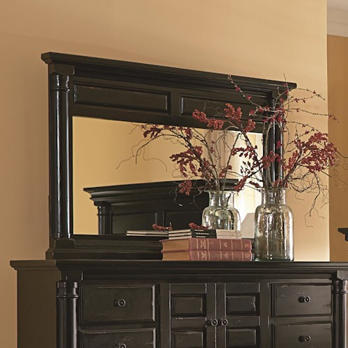 Progressive Furniture Gramercy Park Traditional Mirror with Solid Wood Frame