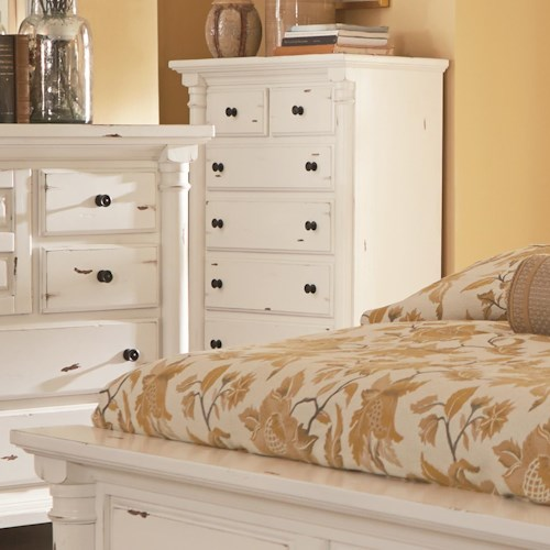 Progressive Furniture Gramercy Park Traditional Chest of Drawers with Scalloped Bracket Foot Base