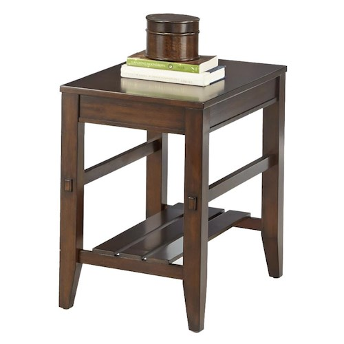 Progressive Furniture Jupiter Key Chairside Table with Slat Shelf