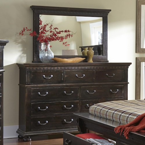 Progressive Furniture La Cantera Traditional Drawer Dresser & Mirror