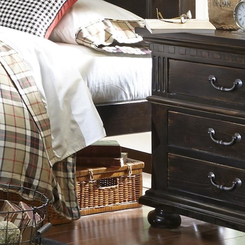 Progressive Furniture La Cantera Traditional Night Stand with 3 Drawers