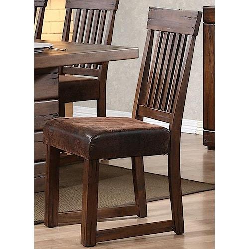 Progressive Furniture Maverick Simply Designed Upholstered Dining Side Chair