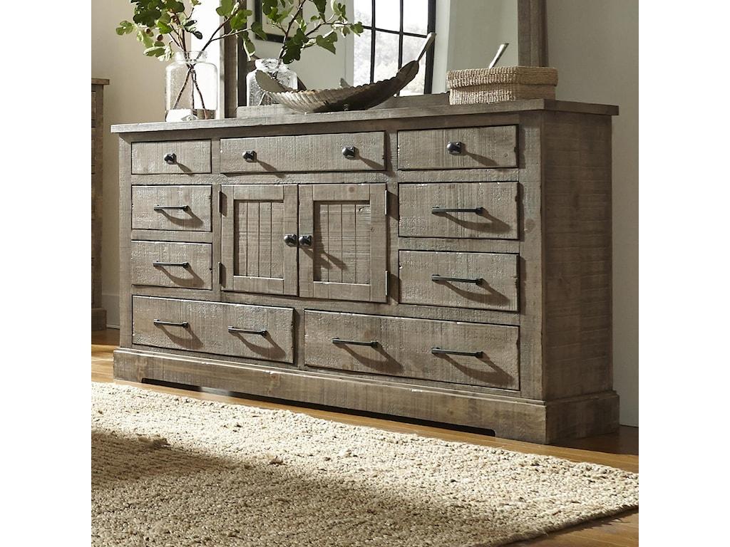 Progressive Bedroom Furniture Progressive Furniture Meadow Rustic Breakfront Pine 60 Console