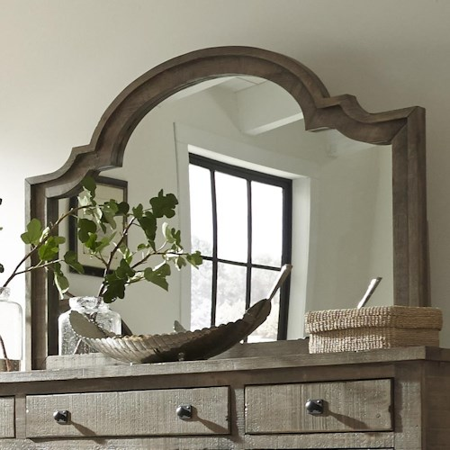 Progressive Furniture Meadow Scalloped Shape Mirror