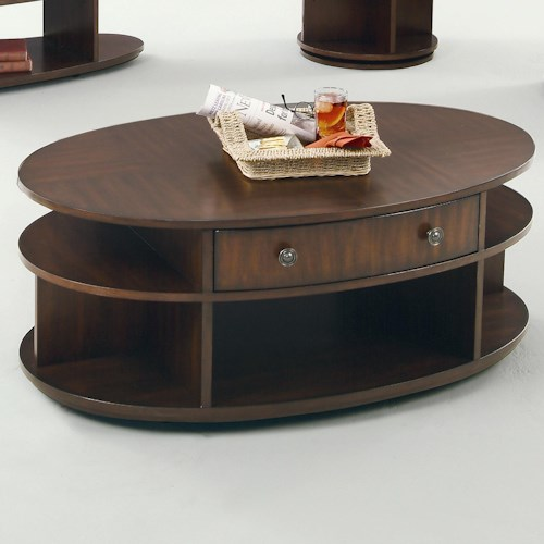 Progressive Furniture Metropolitan  Oval Castered Lift-Top Cocktail Table