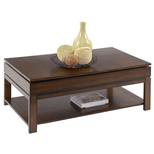 Progressive Furniture Miramar Castered Sliding-Top Cocktail Table