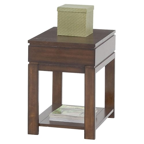 Progressive Furniture Miramar Contemporary Storage Chairside Table