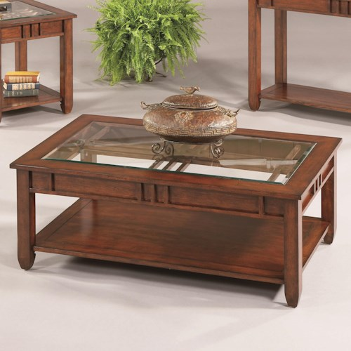 Progressive Furniture Mission Hills Cocktail Table with Glass Top