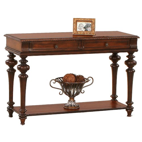 Progressive Furniture Mountain Manor Traditional Sofa Table with Two Drawers